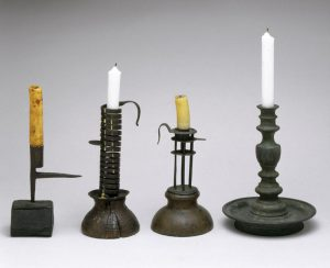 Candles and oil lamps