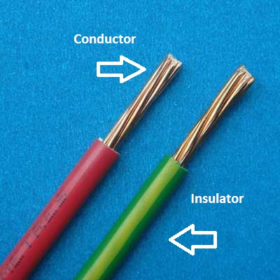 Wire Conductor Vs Wire Insulator