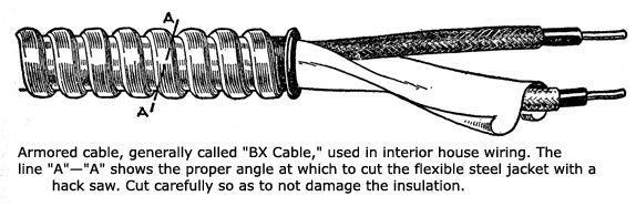 Flexible armored wire cable