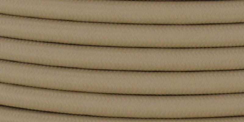 18/3 SJT-B BEIGE NYLON FABRIC CLOTH COVERED LAMP AND LIGHTING WIRE