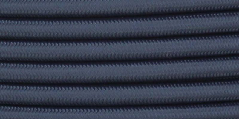 18/3 SJT-B NAVY BLUE NYLON FABRIC CLOTH COVERED LAMP AND LIGHTING WIRE