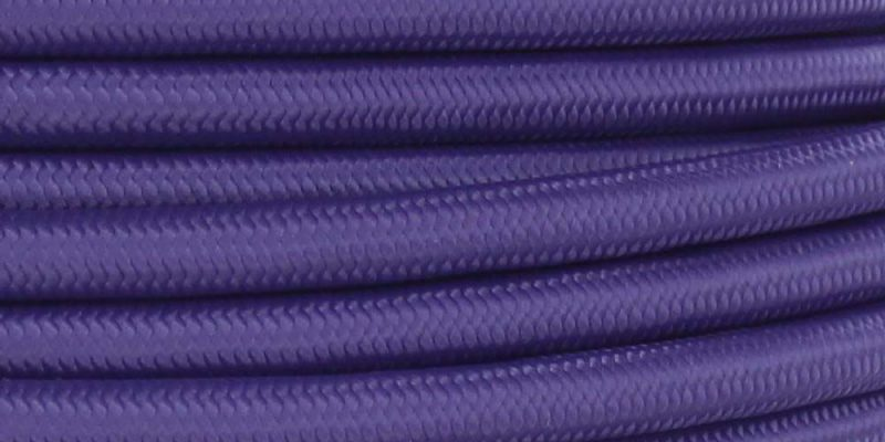 18/3 SJT-B PURPLE NYLON FABRIC CLOTH COVERED LAMP AND LIGHTING WIRE