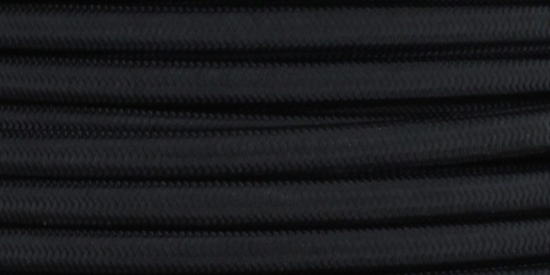 18/2 SPT2-B BLACK NYLON FABRIC CLOTH COVERED LAMP AND LIGHTING WIRE