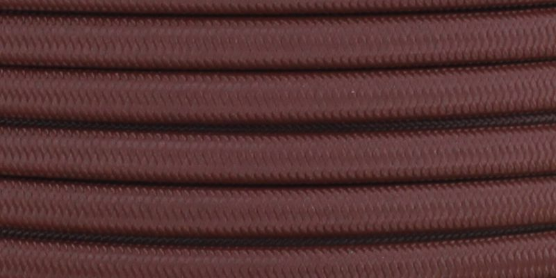 18/2 SPT2-B MAHOGANY NYLON FABRIC CLOTH COVERED LAMP AND LIGHTING WIRE